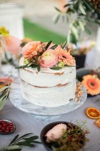 Ombre Pfirsich Torte