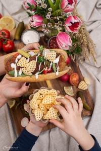 Veggie Hot Dogs mit Pommels