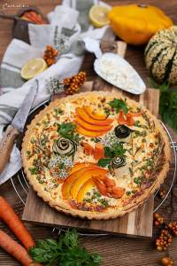 Herbst Tarte mit Feta