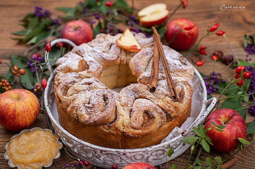 Germteigschnecken mit Apfel Zimt Fülle_4089