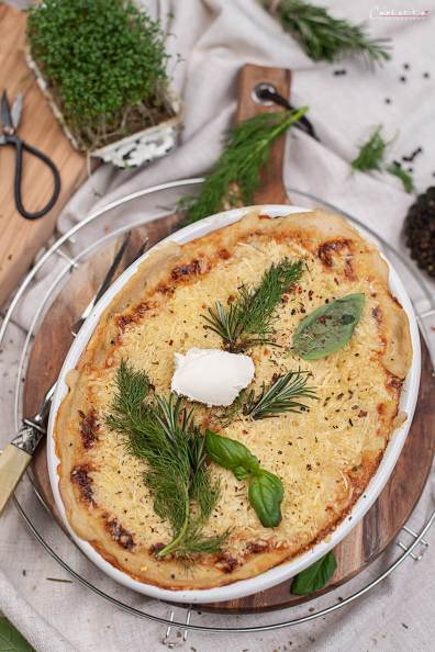 Nudelauflauf mit Käse