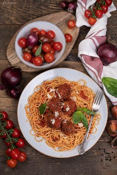 Spaghetti mit Fleischbällchen_3044
