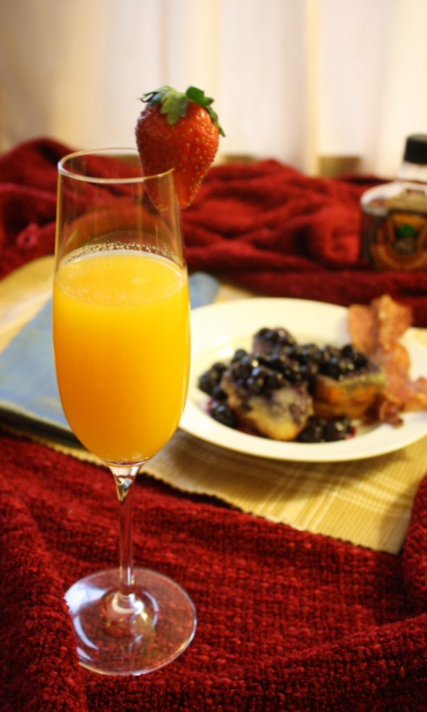 Valentines Day Breakfast In Bed Passion Fruit Mimosa