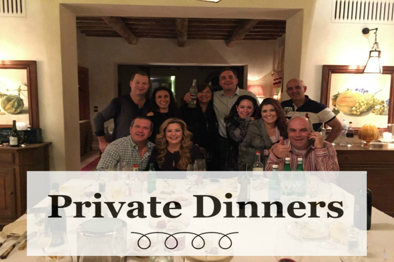 Private Dinners in Tuscany