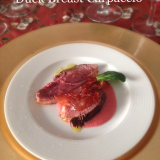 personal-cook-tuscany-duck-carpaccio