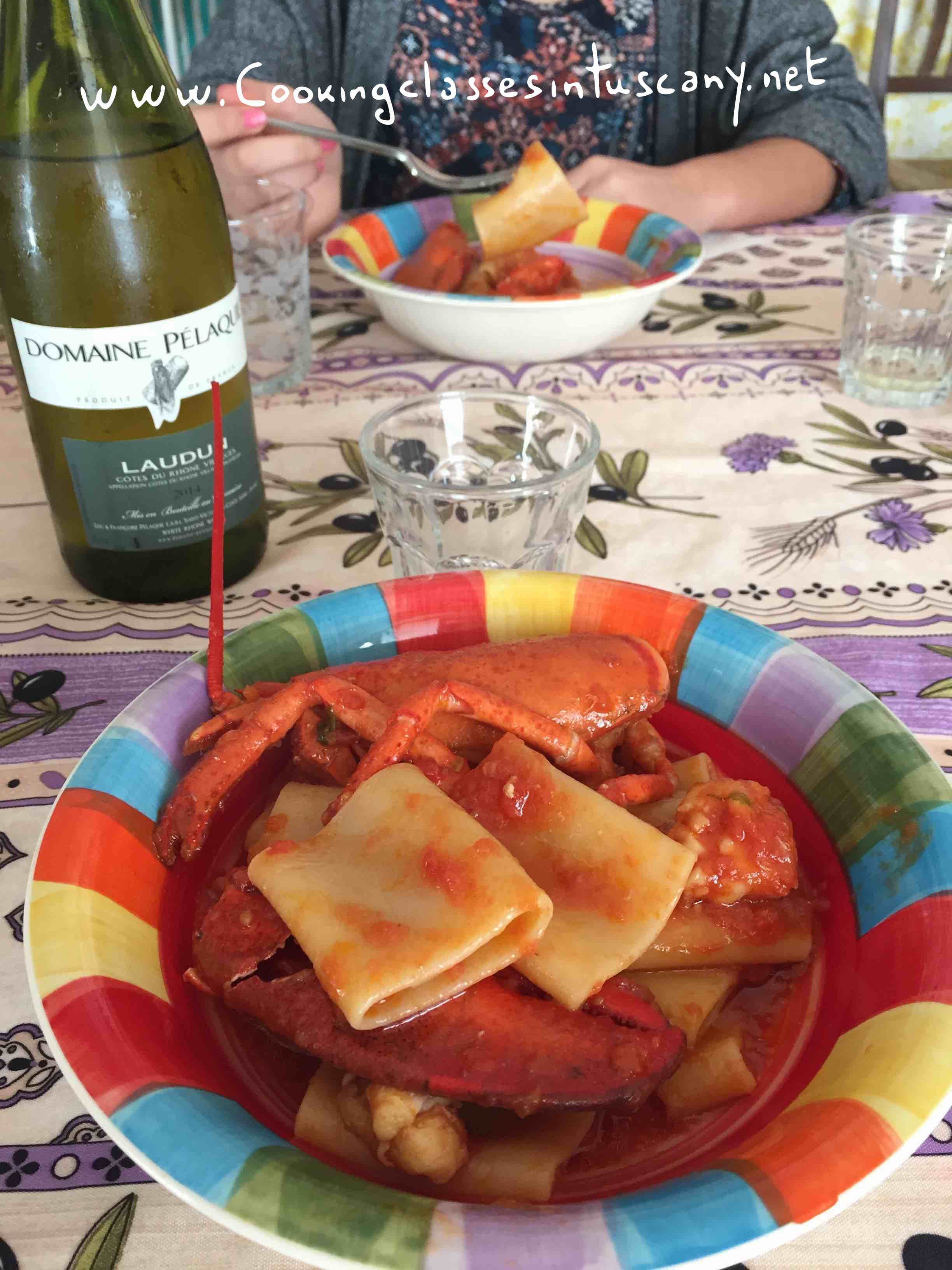 wedding dinner in tuscany with cuocheinvacanza (chefs on holiday) and a perfect lobster recipe