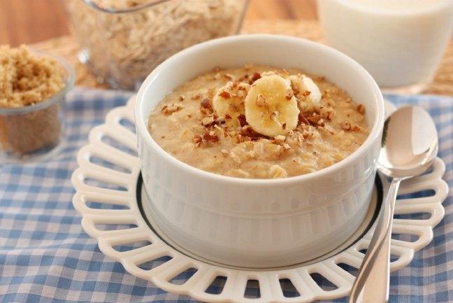 oats with banana - healthy breakfast Indian recipes
