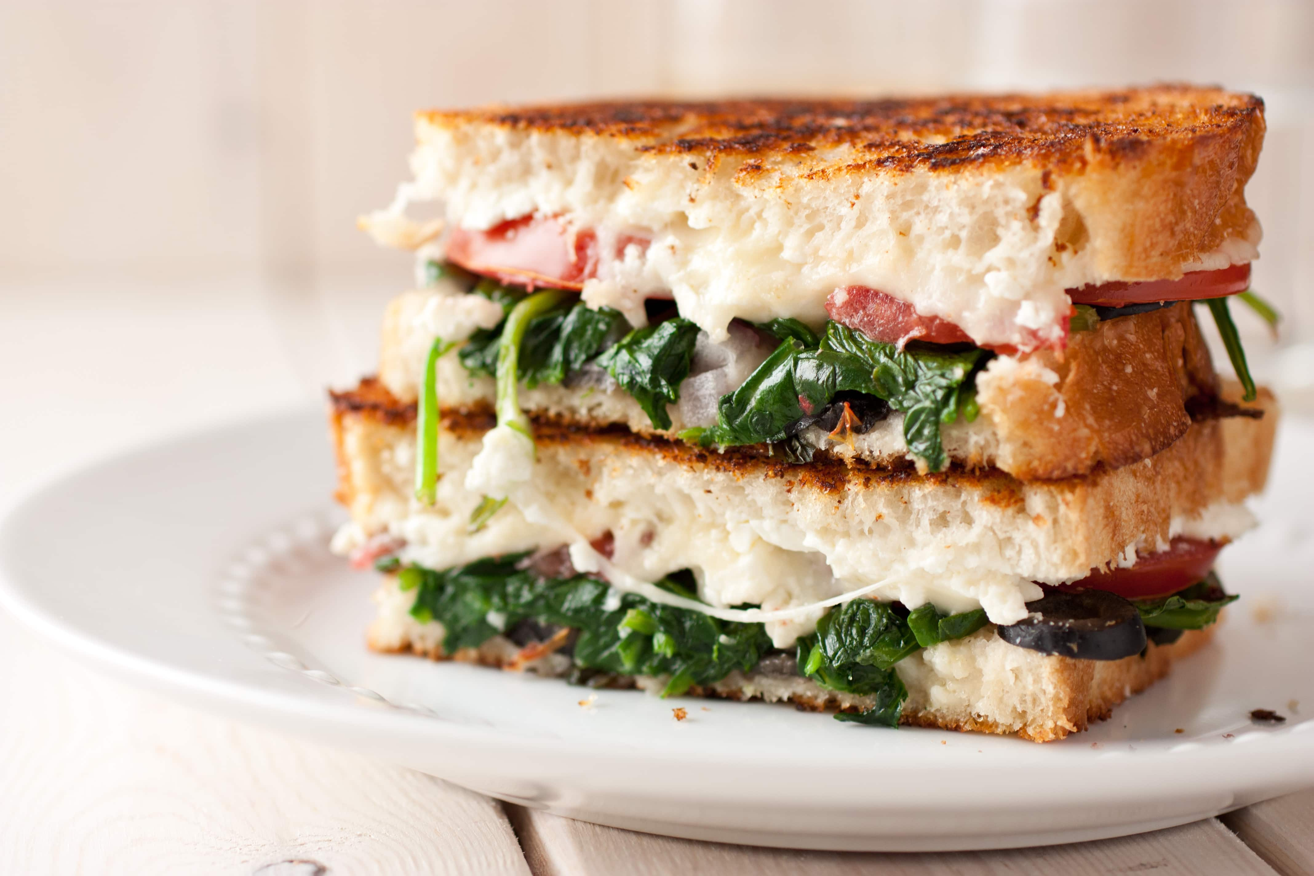 Image result for grilled cheese tomato spinach