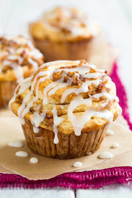 Image result for apple cinnamon roll muffins