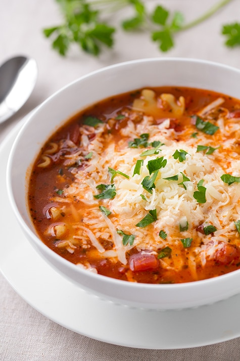 Lasagna Soup featuring KRAFT Parmesan Cheese and HUNT'S