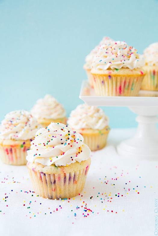 A Cute Couple Wallpaper Funfetti Cupcakes With Vanilla Buttercream Frosting