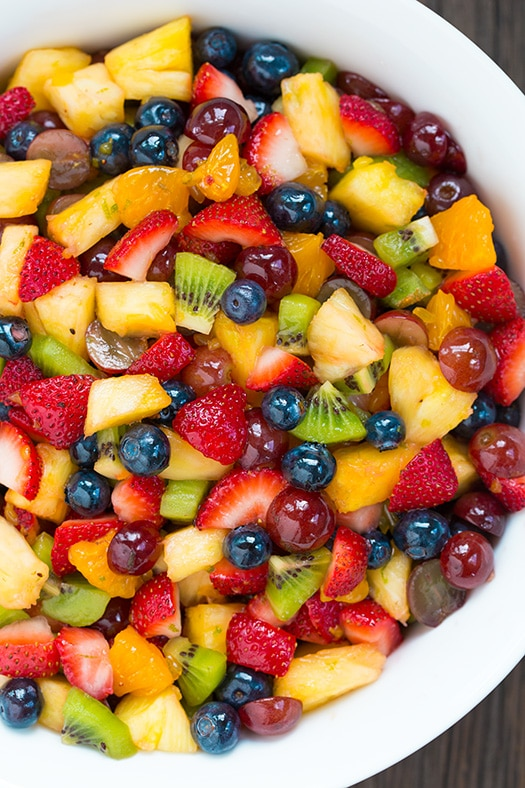 Honey Lime Rainbow Fruit Salad | Cooking Classy