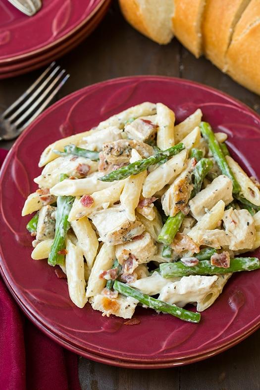 Chicken Asparagus Pasta So Creamy  Cooking Classy