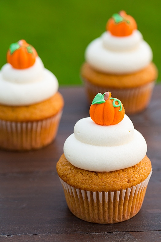 Pumpkin Cupcakes with Cream Cheese Frosting | Cooking Classy