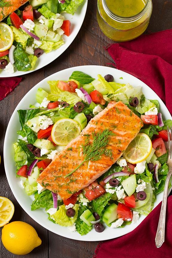 Greek Salmon Salad - Cooking Classy