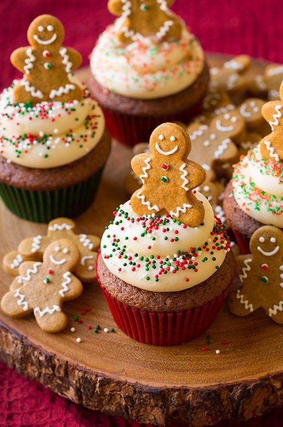 Gingerbread Man Cupcakes