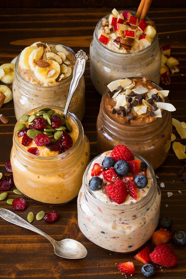 BEST Overnight Oats {Five Delicious Ways!} - Cooking Classy