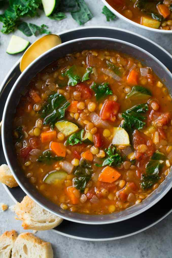 Lentil Soup (Italian Vegetable) - Cooking Classy