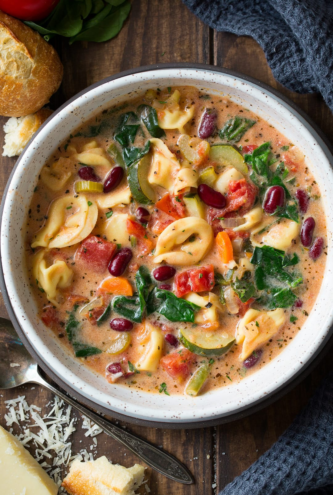 Creamy Tortellini Minestrone Soup By Cooking Classy