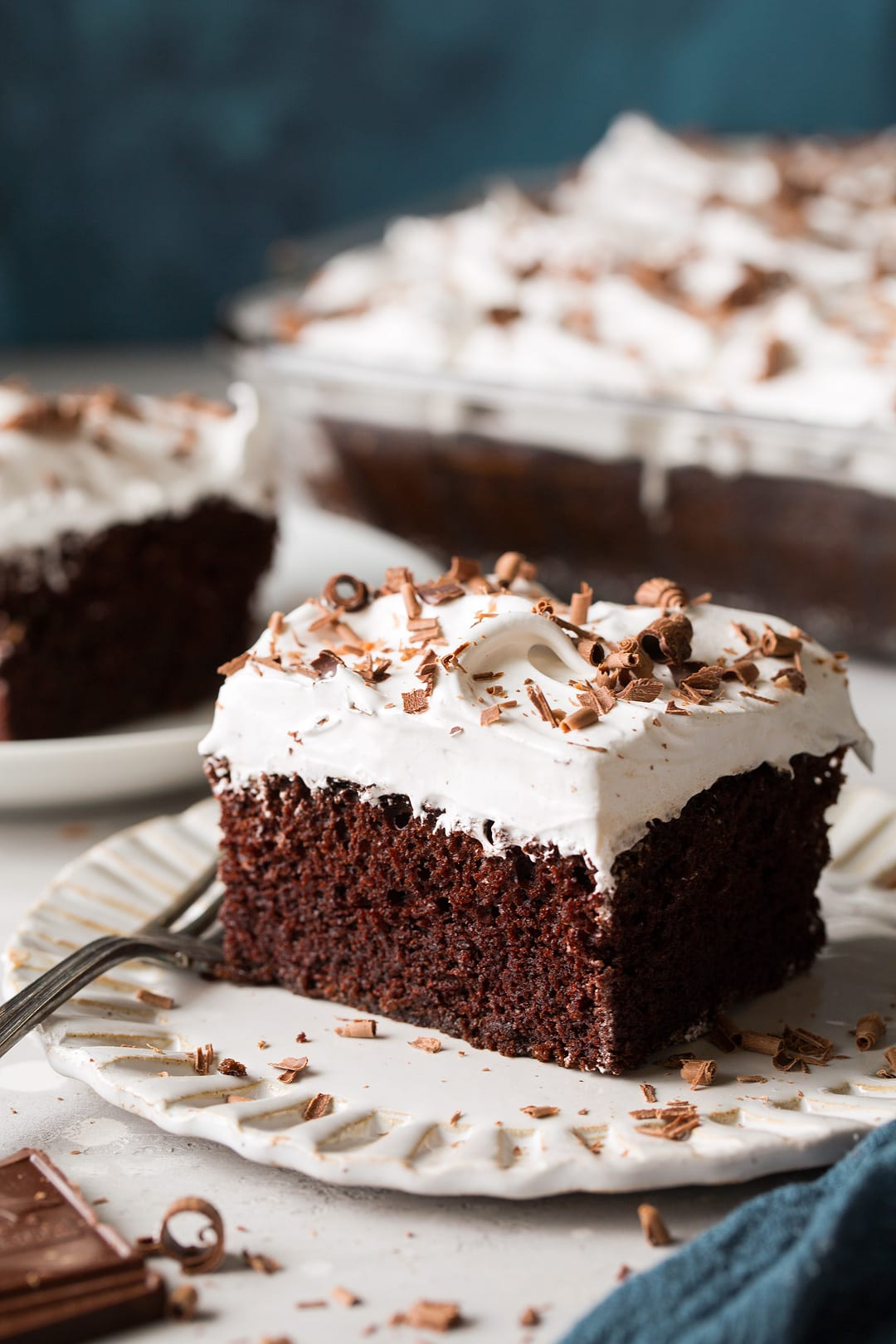 Chocolate Mayonnaise Cake With Marshmallow Frosting