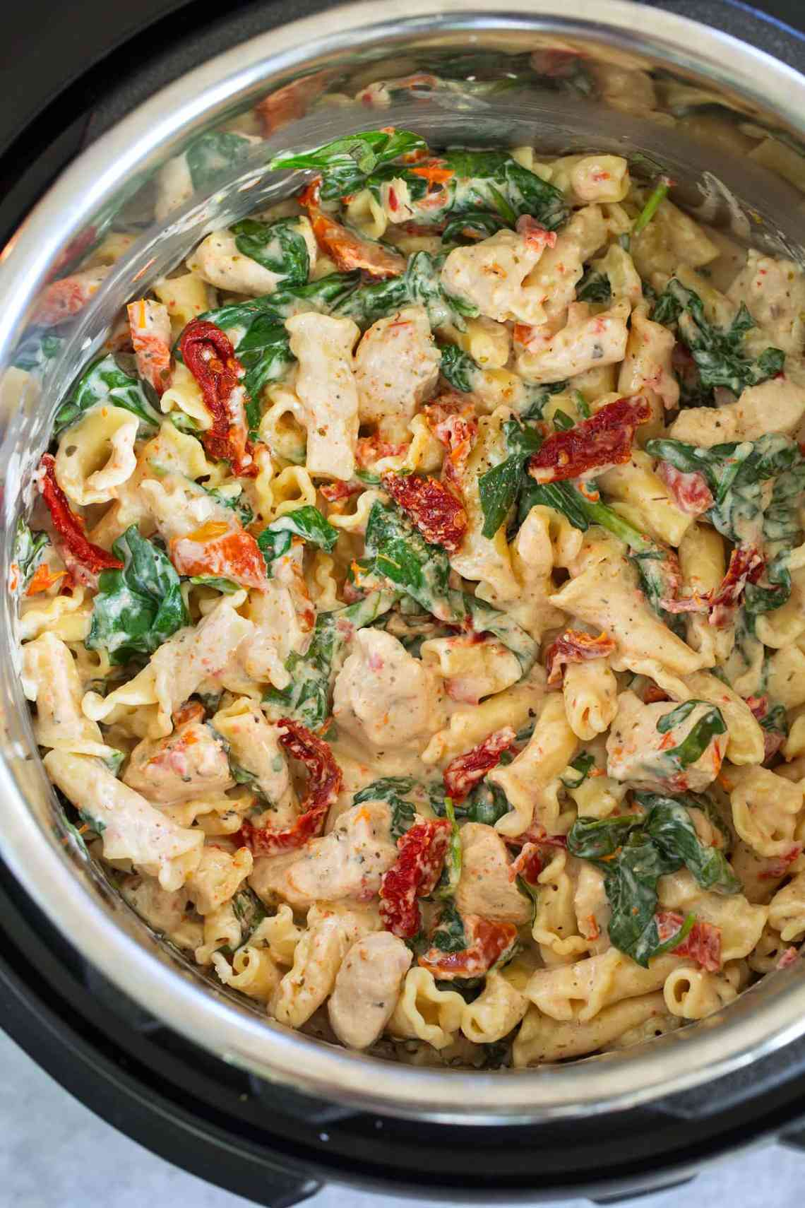 Instant Pot Creamy Tuscan Chicken Pasta | Cooking Classy ...