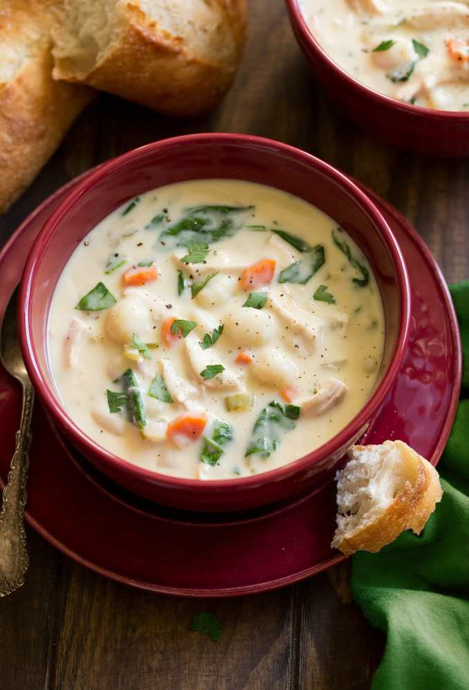 Chicken Gnocchi Soup (Olive Garden Copycat) - Cooking Classy