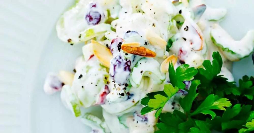 Waldorf-salat sundere light opskrift