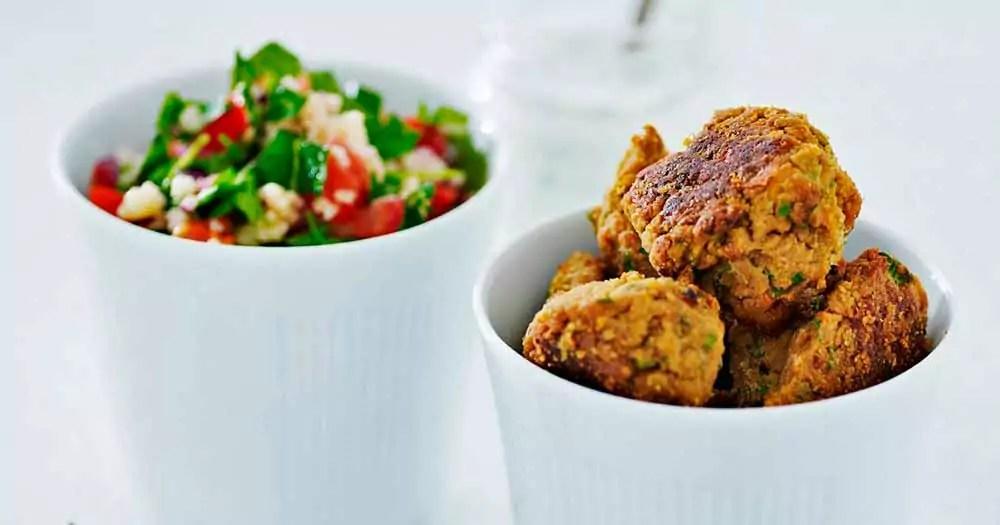 sunde ovnbagte falafler falafel opskrift