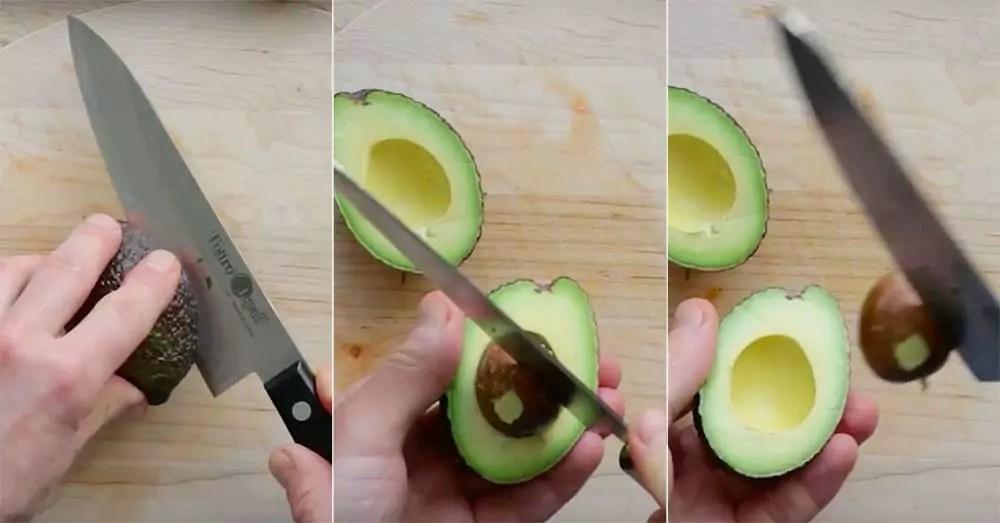 Avocado fjern sten