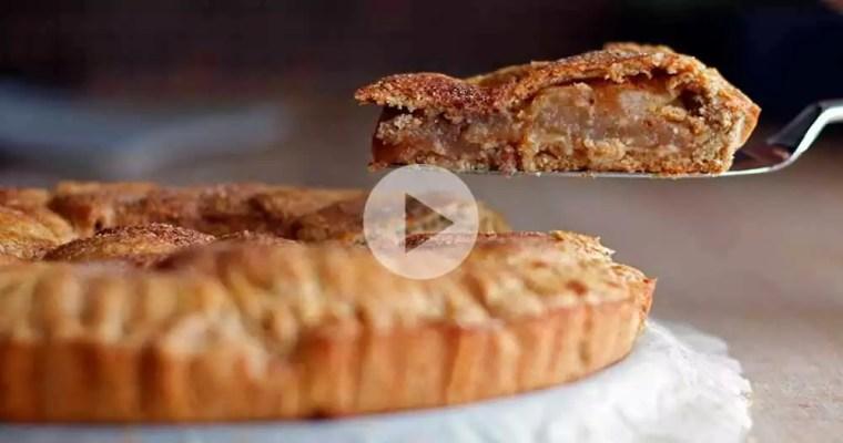 Glutenfri æbletærte med marcipan