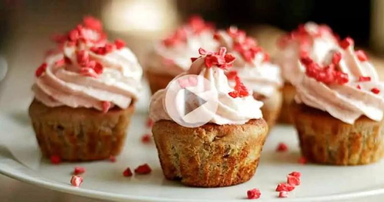 Glutenfri rabarber-cupcakes