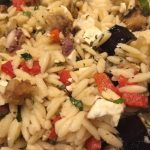 Manouri, Eggplant, and Orzo Salad - CookingCoOp.com