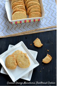 Coconut Orange Macadamia Shortbread Cookies