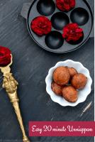 Easy 20 minute Unniappam Recipe - Kerala Sadya Recipe