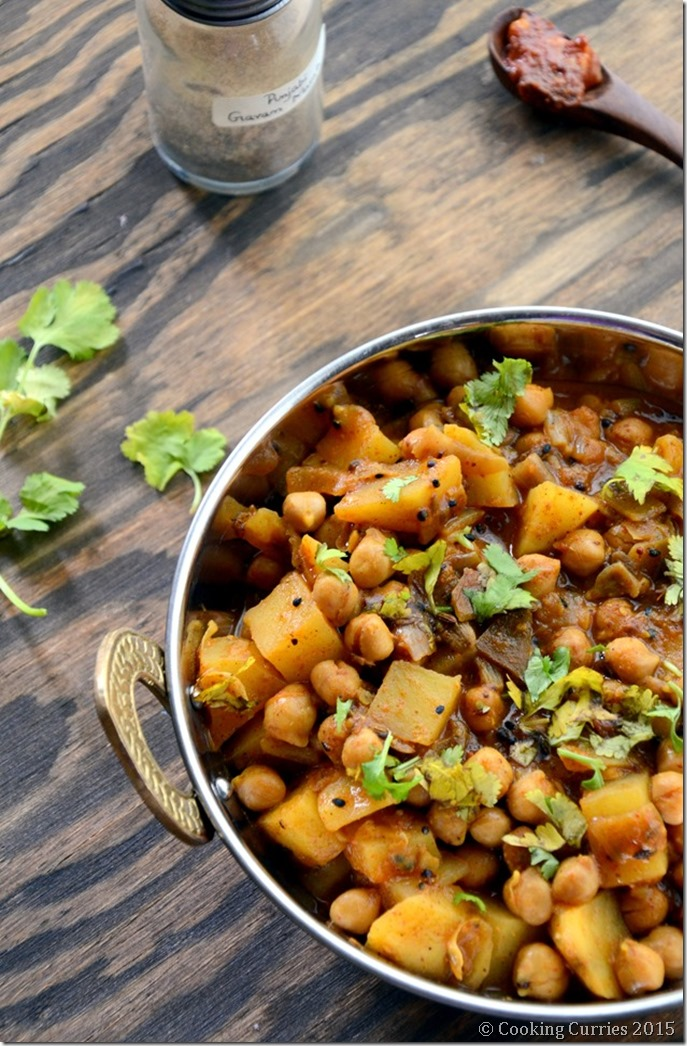 Achari Aloo Chole - Potatoa dn Garbanzo Bean Curry with Pickling Spices - Mirch Masala (5)