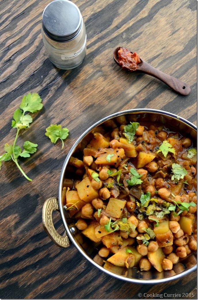 Achari Aloo Chole - Potatoa dn Garbanzo Bean Curry with Pickling Spices - Mirch Masala (2)