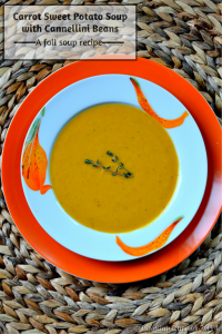Carrot Sweet Potato Soup with Cannellini Beans | A Fall Recipe