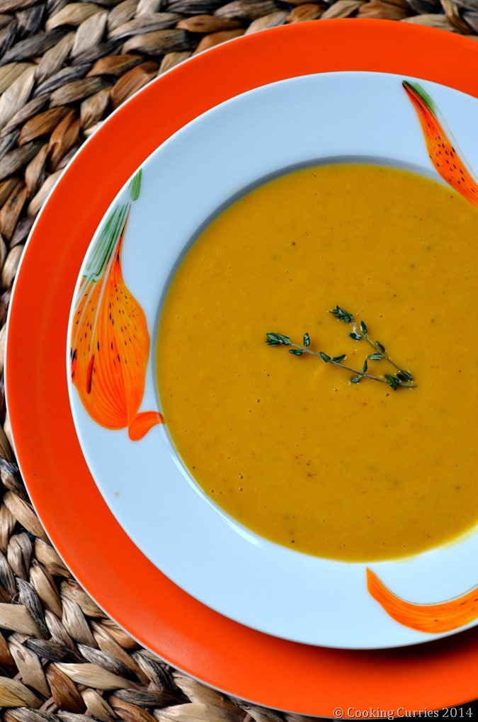 Carrot Sweet Potato Soup with Cannellini Beans - Vegetarian , Fall Recipe, Soups, Thanksgiving - Cooking Curries (2)