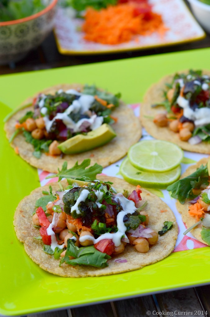 Chana Chat Tacos - Indian Food, Indian Street Food, Vegetarian, Indian Fusions Food - Cooking Curries (3)