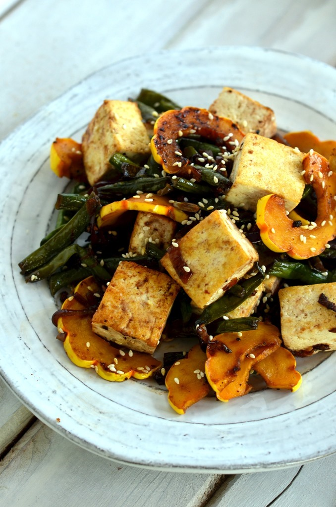 Long Beans and Delicata Squash Stir Fry with Tofu - Vegetarian Vegan Gluten Free Stir Fry Recipe - Cooking Curries (2)
