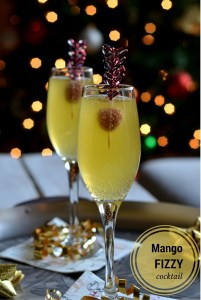 Mango Fizzy Cocktail–Happy New Year