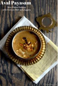 Aval Payasam ~ Beaten Brown Rice (Poha) Pudding with Jaggery and Coconut Milk | Kerala Sadya Recipe