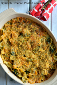 Spinach Broccoli Pasta Casserole