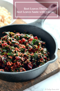 Beetroot Leaves Thoran ~ Beet Leaves Sautéed with Coconut
