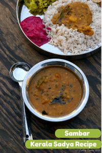 Varutharacha Sambar ~ Mixed Vegetables and Lentils in a Spiced Tamarind Sauce | Kerala Sadya Recipes