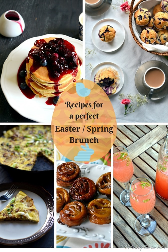 Recipes for the perfect Easter brunch Spring brunch - www.cookingcurries.com