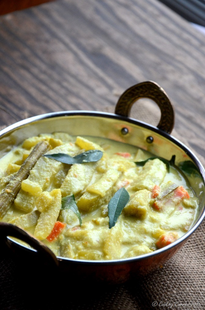 Avial - Kerala Mixed Vegetable Curry with Coconut and Yogurt Sauce - A Kerala Sadya Recipe - Vegetarian, Gluten Free - www.cookingcurries.com (3)