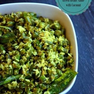 Beans Thoran - Green Beans Saute with Coconut - Kerala Sadya Recipe - Vegan , Gluten Free - www.cookingcurries.com