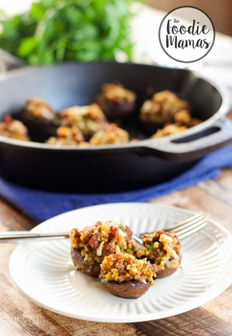 Chorizo-manchego-stuffed mushrooms