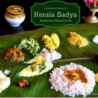 A Collection of Kerala Sadya Recipes for your Vishu Sadya this year. Sadya is an elaborate banquet like feast that is all vegetarian, mostly vegan. It is the single most awe inspiring vegetarian fare you can eat.